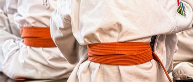 Children in karate clothing